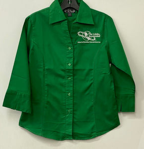 Links Green Button Down Shirt