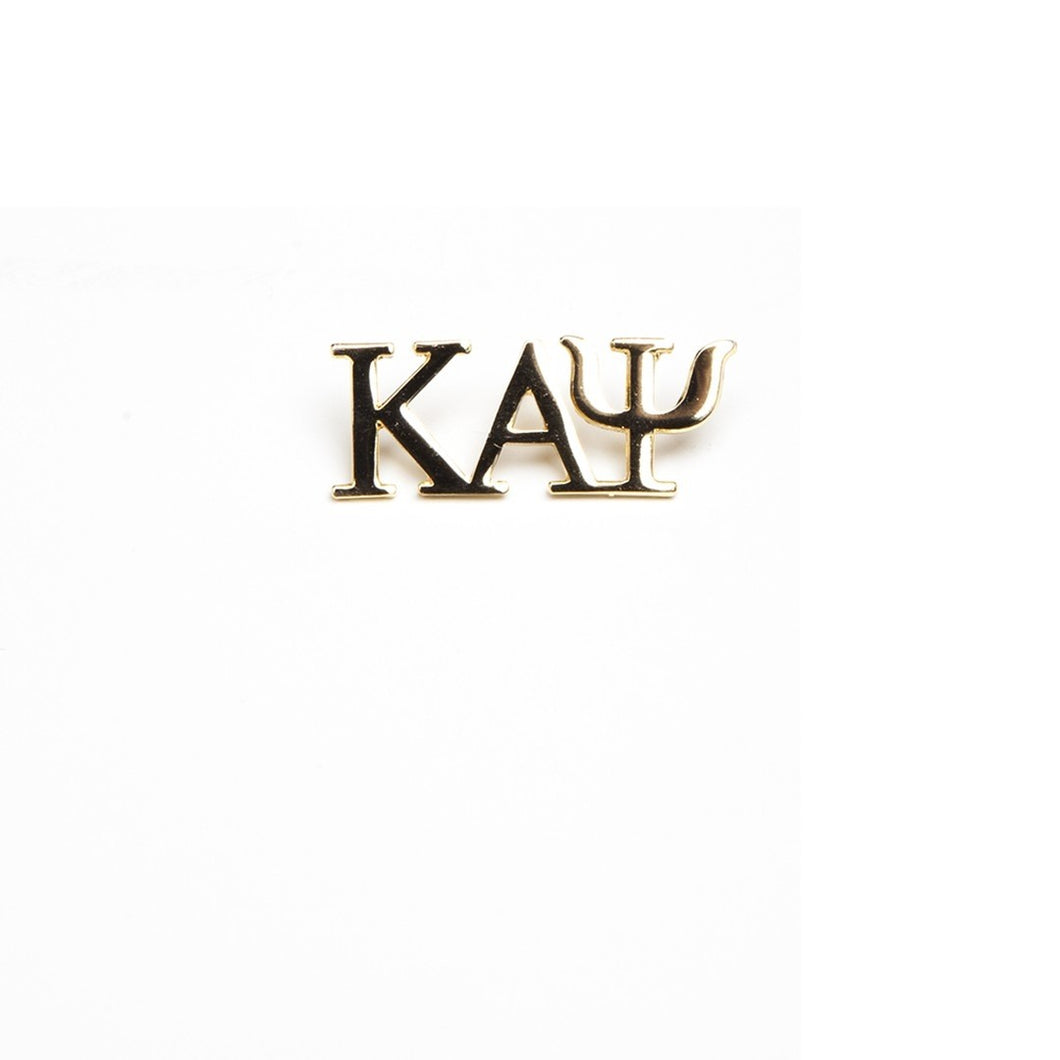 Kappa Alpha Psi 3 Letter Gold Pin
