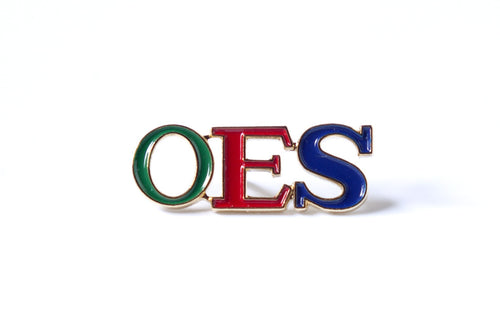OES 3 Letter Color Pin