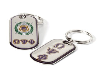 Omega Epoxy Dog-Tag Key Ring
