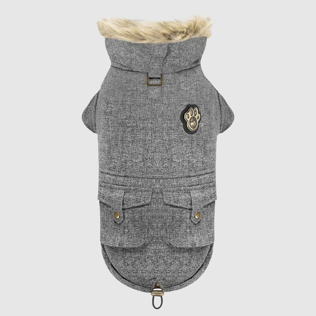 Alaskan Army Dog Parka in Salt & Pepper, Canada Pooch Dog Parka