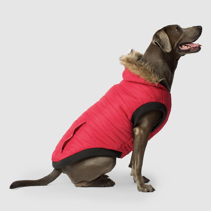 North Pole Dog Parka in Red, Canada Pooch Dog Parka