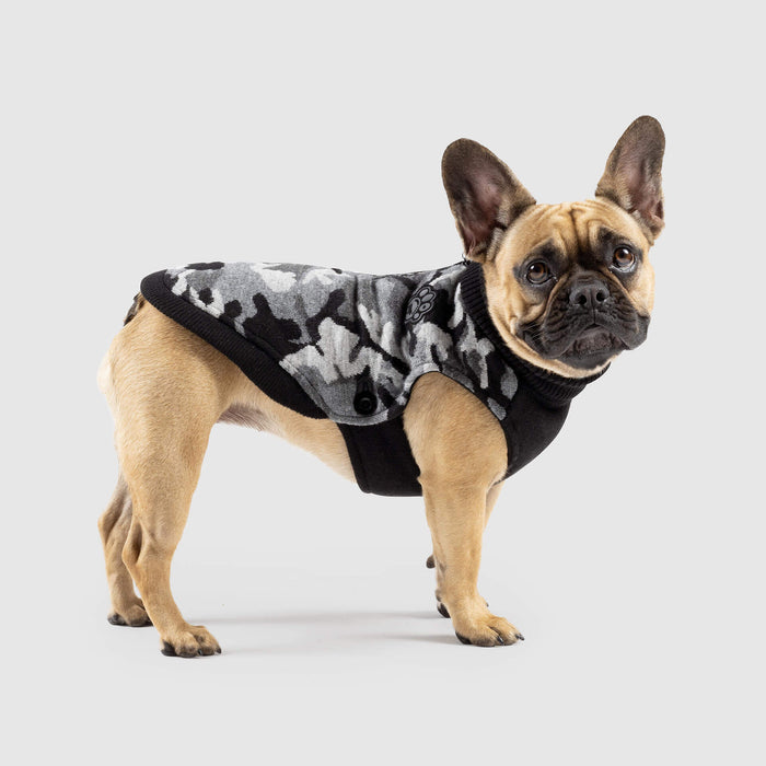 Northern Knit 2.0 in Black Camo, Canada Pooch Dog Sweater