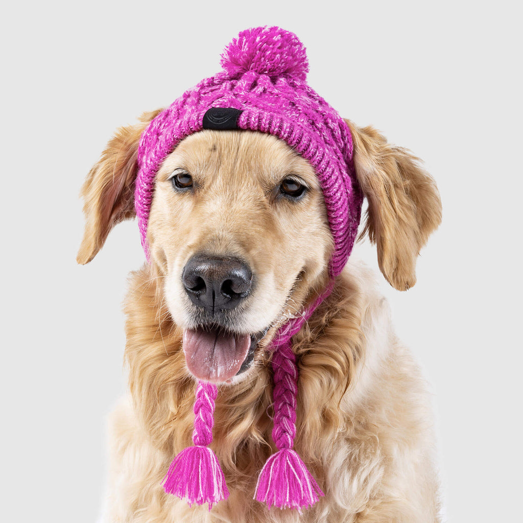 Polar Pom Pom Dog Hat in Pink, Canada Pooch Dog Hat