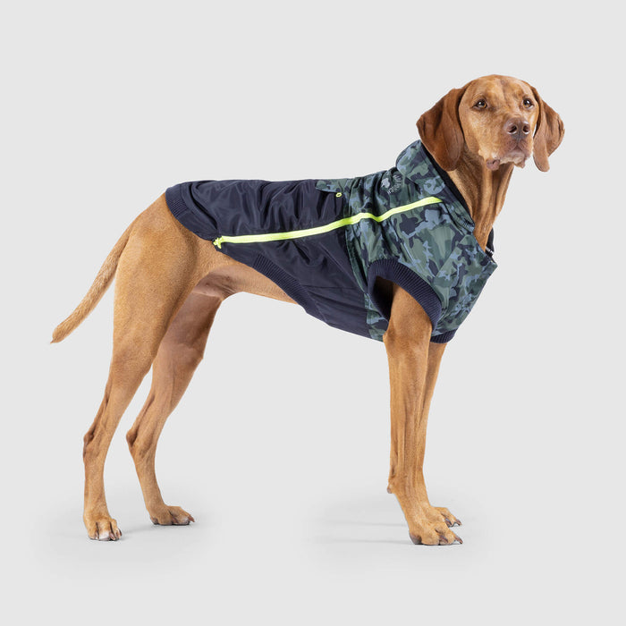 The 360 Dog Jacket in Green Camo, Canada Pooch Dog Jacket
