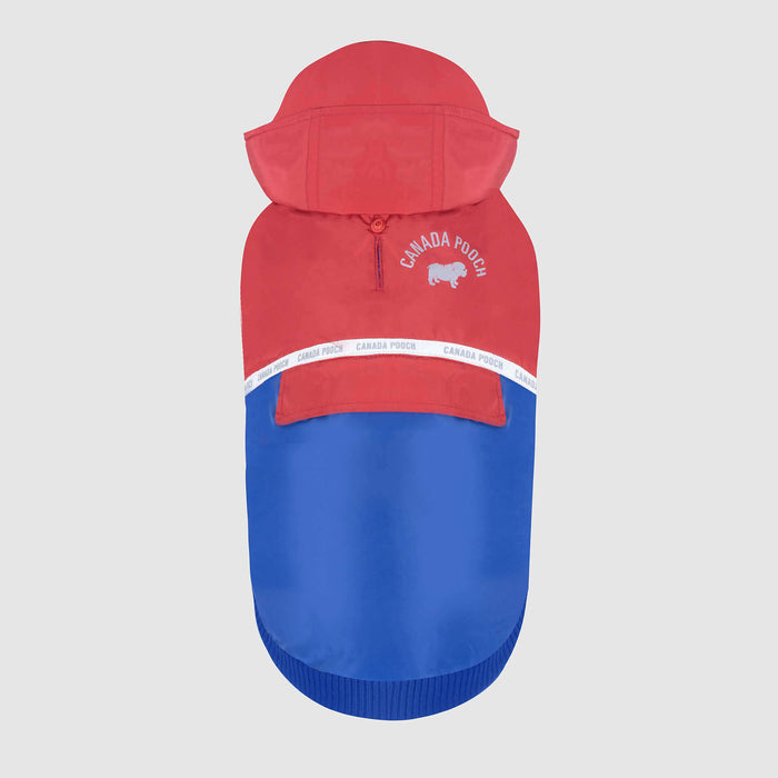 The 360 Dog Jacket in Red & Blue, Canada Pooch Dog Jacket
