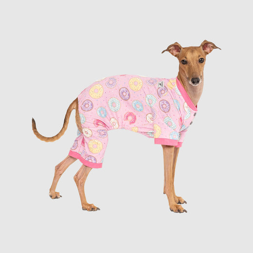 Dog Weekend Onesie in Donut Print, Canada Pooch Dog Clothing