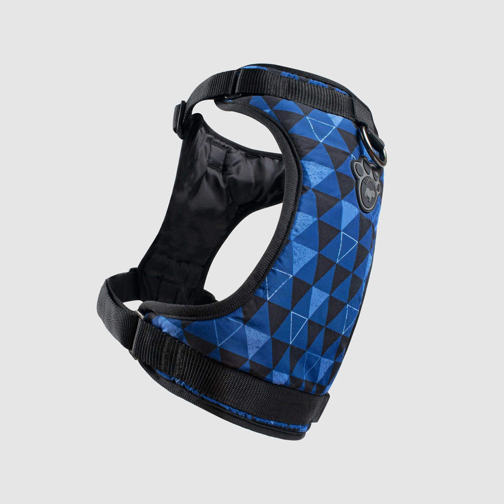The Everything Dog Harness in Blue Geo, Canada Pooch Dog Harness
