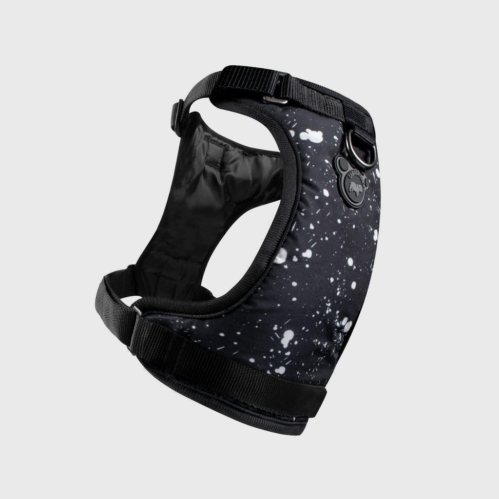 The Everything Dog Harness in Black Splatter, Canada Pooch Dog Harness