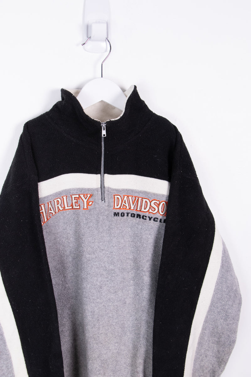 Vintage Harley Davidson 1/4 ZIp Sweater *10-12 yrs*