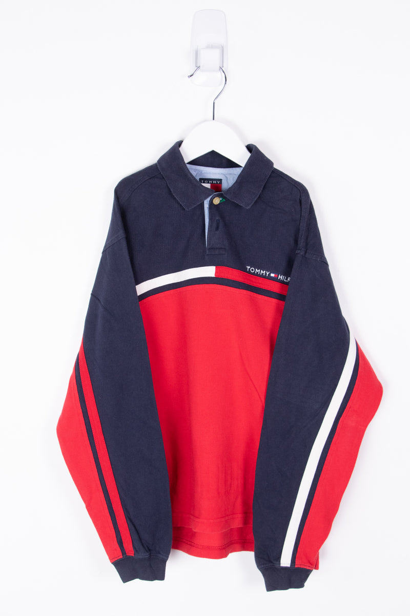 Vintage Tommy Hilfiger Long Sleeve Polo Tee *7-8 yrs*