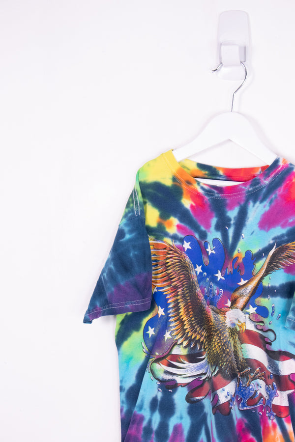 Vintage Eagles Tye Dye Tee *7-8 Yrs*