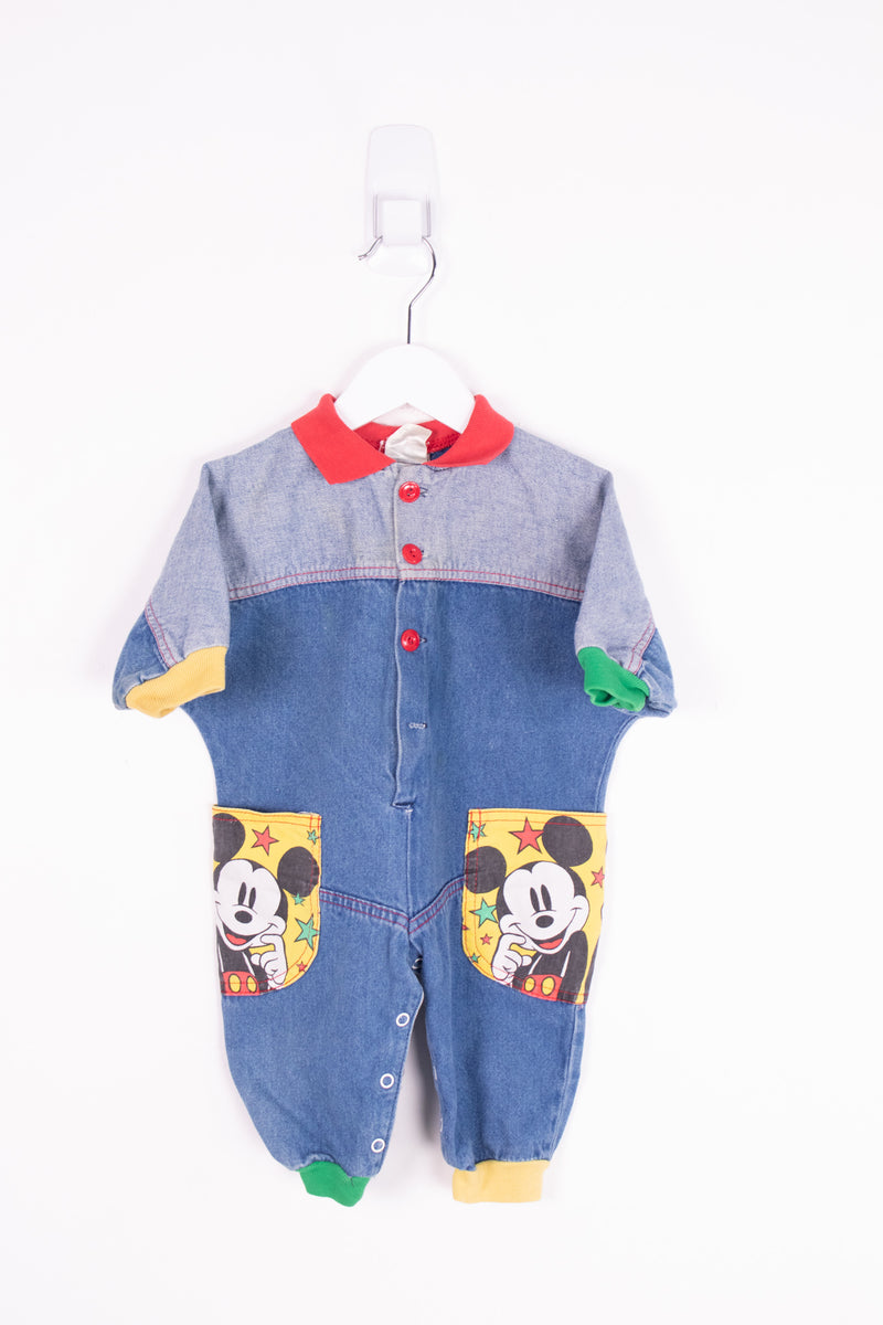 Vintage Mickey Mouse Jumpsuit *1-2 Yrs*