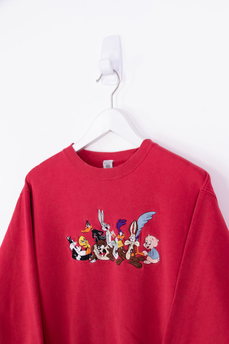 Vintage Warner Bros Embroidered Sweater *5-6yrs*