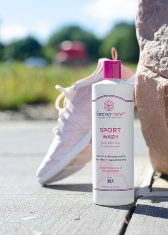 China exclusive product sport wash - bottle next to a sport shoe
