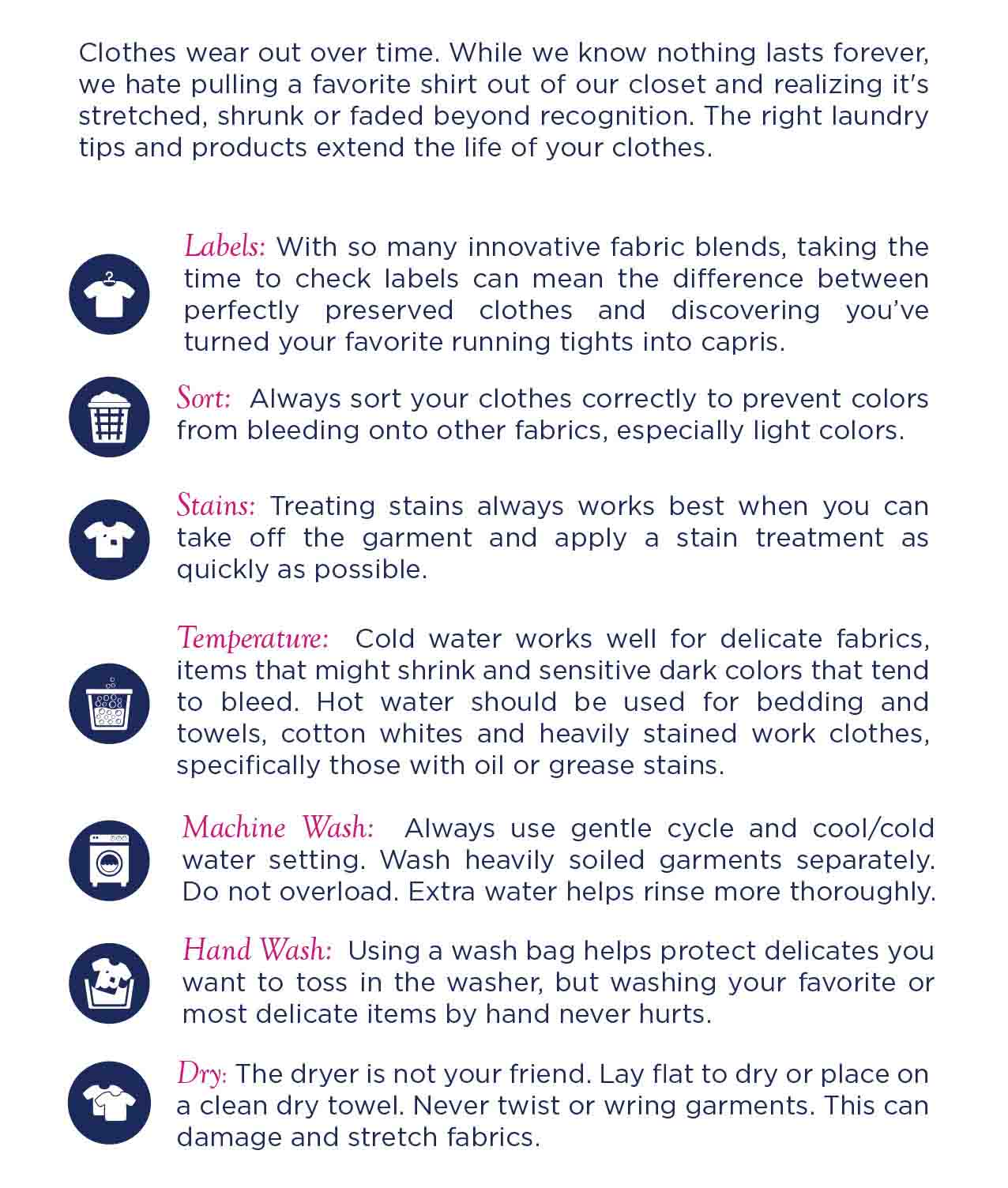 Forever New Laundry Tips
