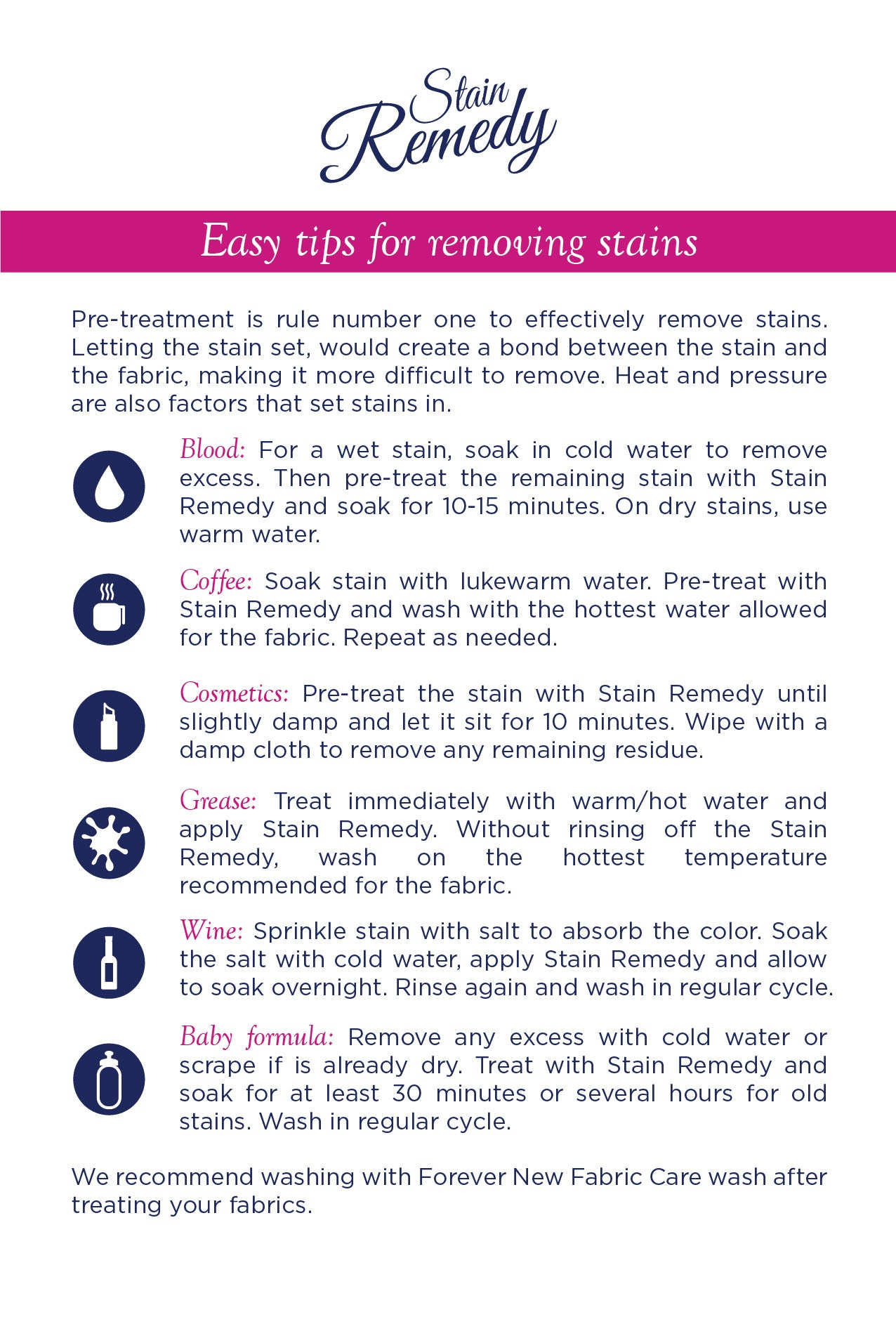 stain removing tips stain remover remove stains stain remedy by forever new