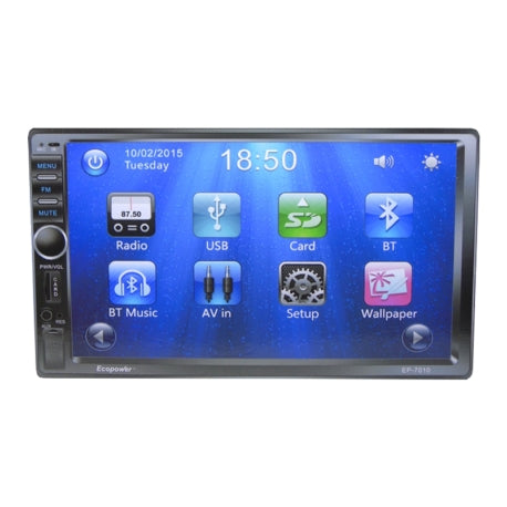 RADIO CAR ECOPOWER EP-7010 - BLUETOOTH - GPS - 7 PULGADAS - USB