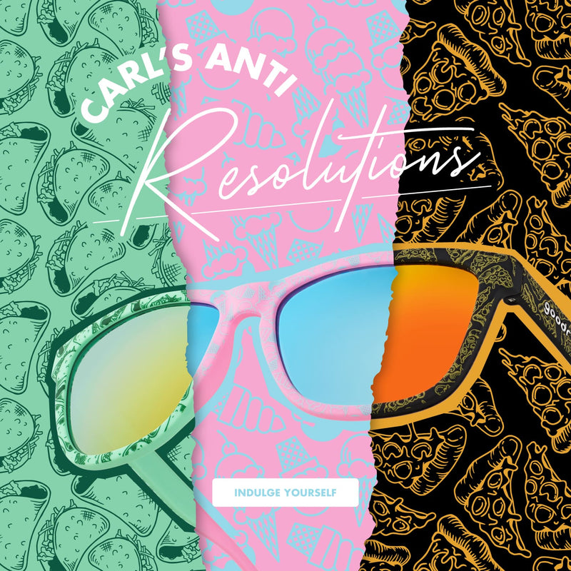 Carl's anti-resolutions: Taco, Ice Cream, and Pizza shades