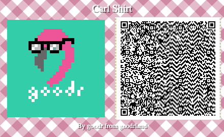 smaller goodr flamingo animal crossing pattern QC code