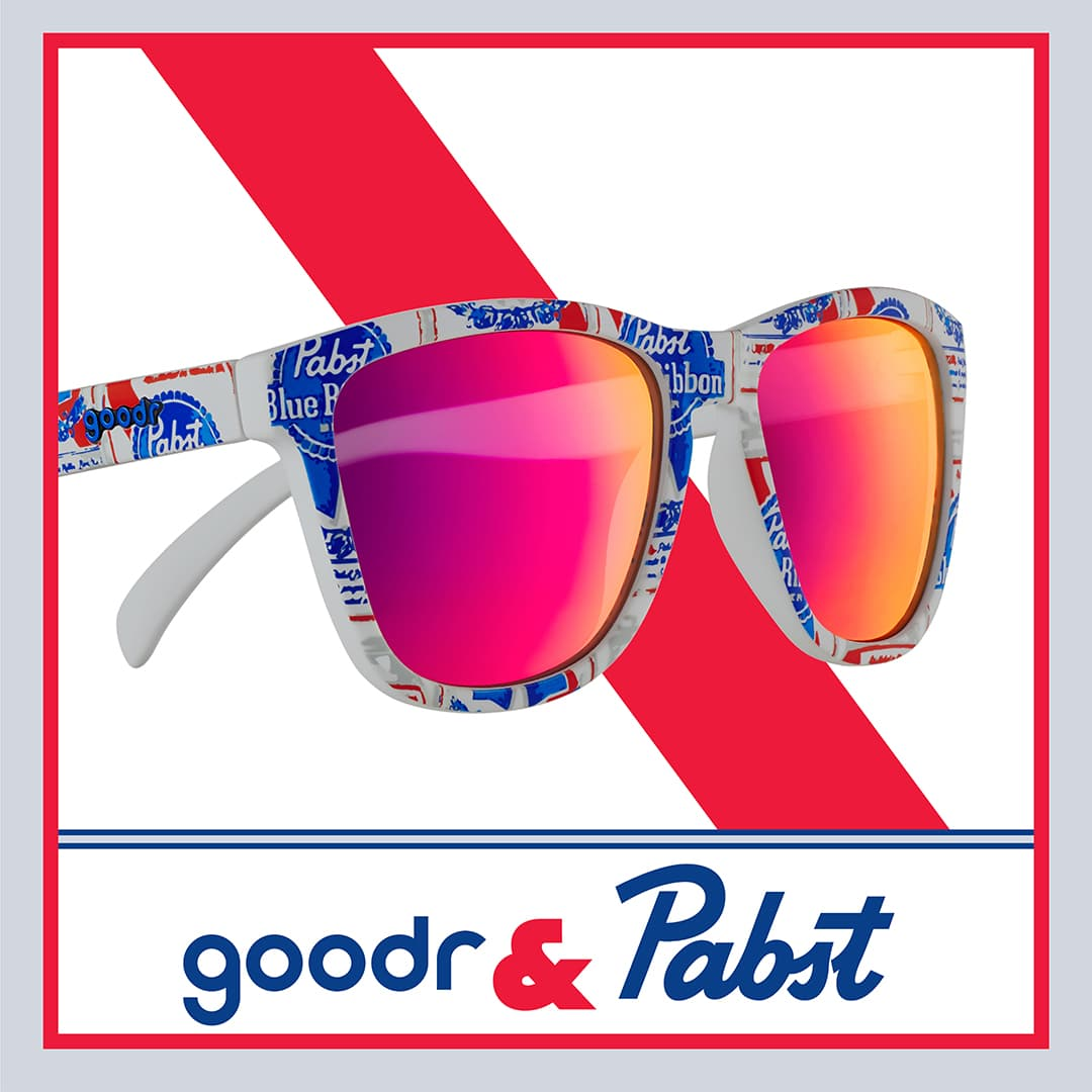 pabst blue ribbon beer sunglasses