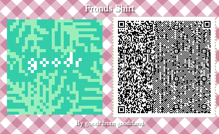smaller palm print animal crossing pattern QC code
