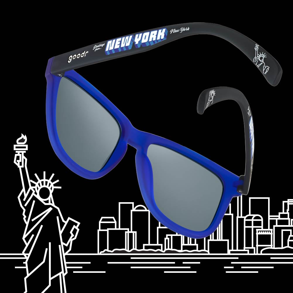 blue and yellow polarized sunglasses
