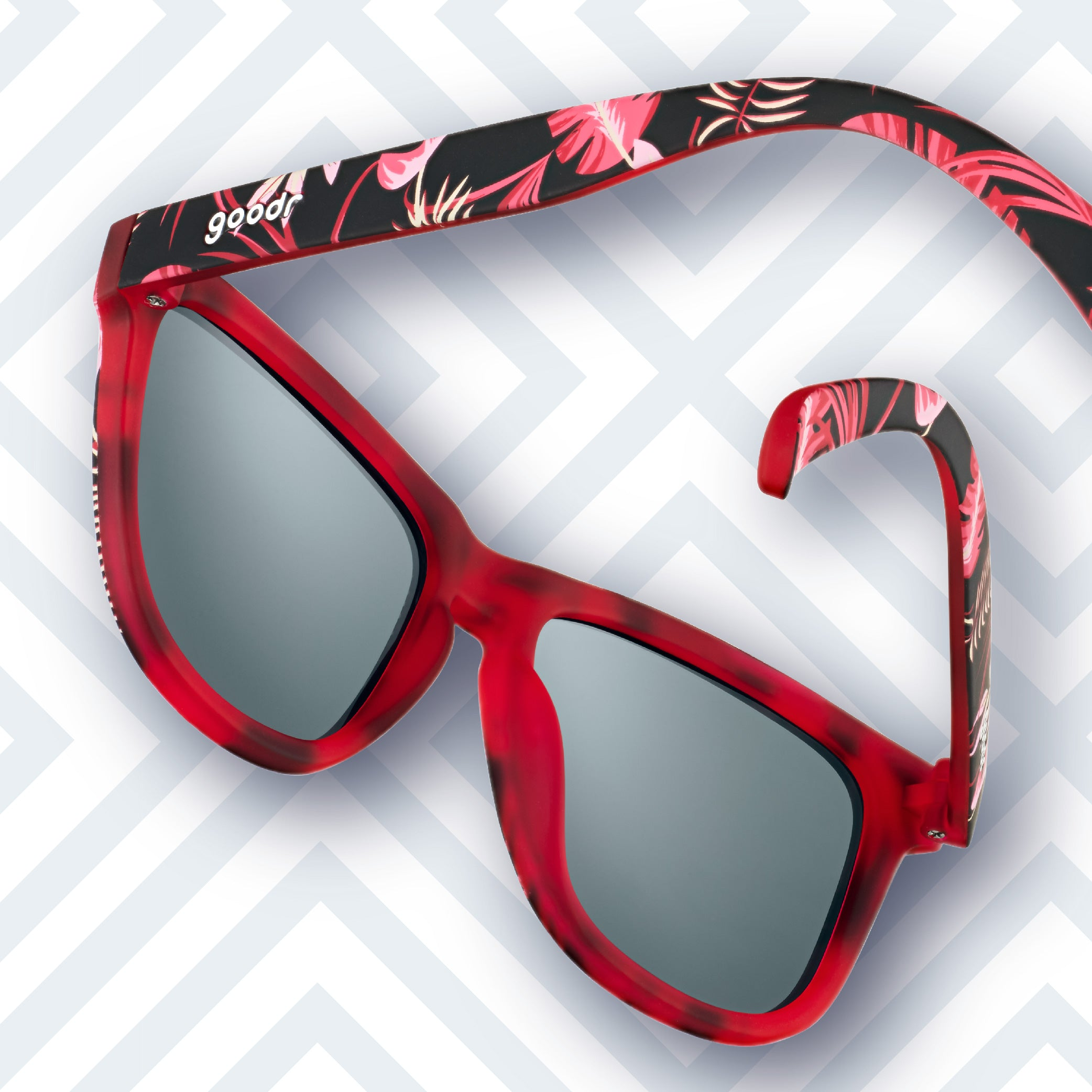 blue and red polarized sunglasses
