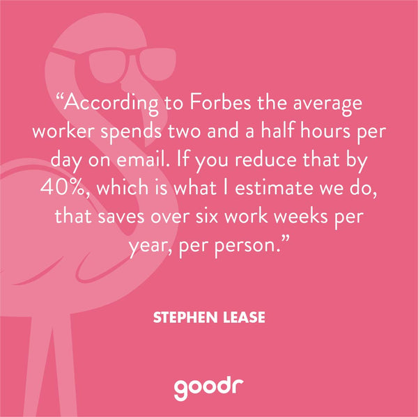 quote from goodr CEO Stephen Lease
