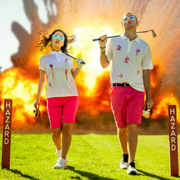 explosion golfers wearing goodr golf sunglasses