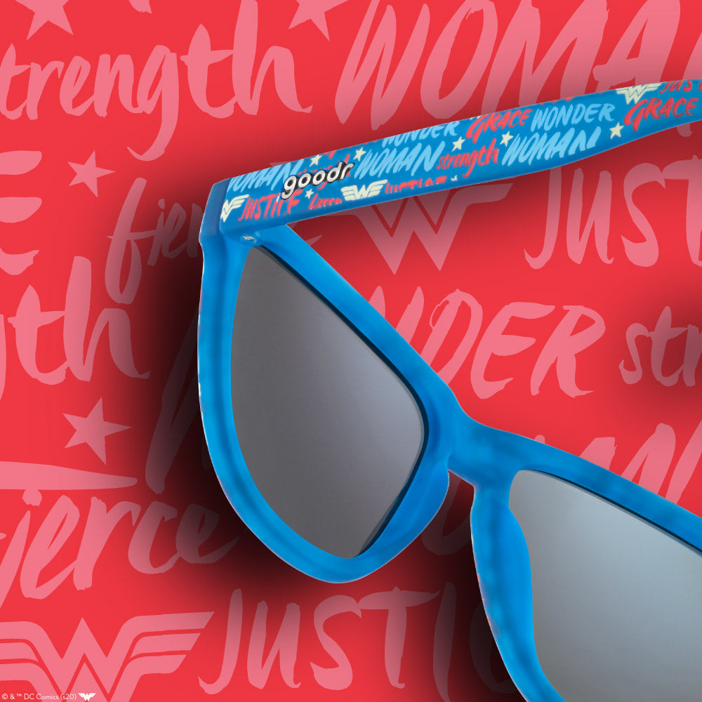 BLUE WONDER WOMAN SUNGLASSES