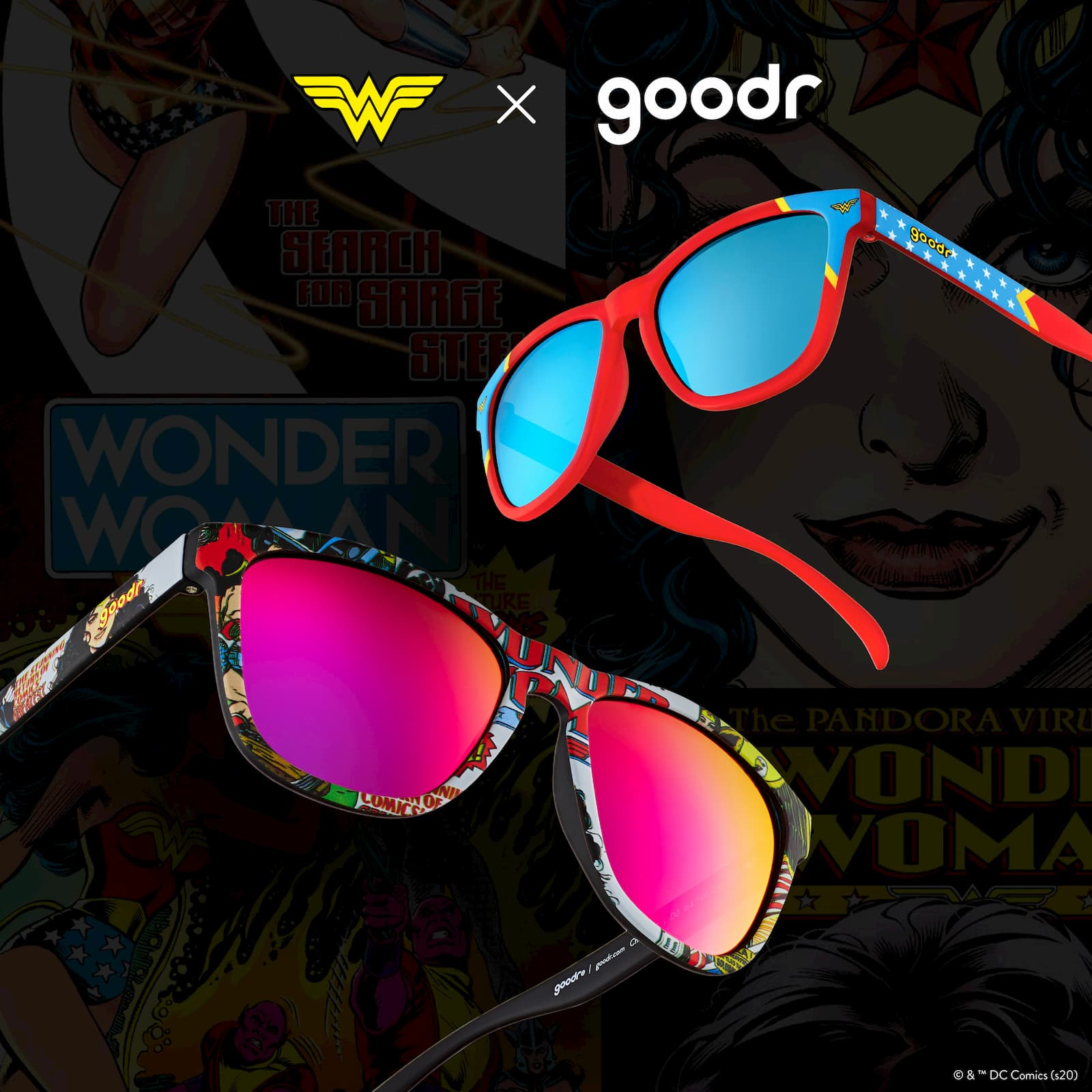 wonder woman sunglasses by goodr