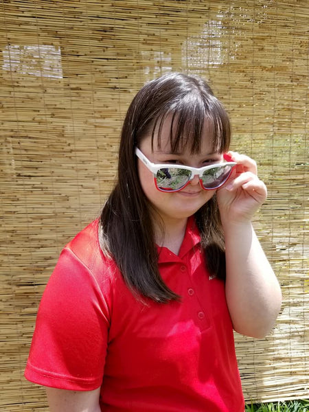 awesome athlete in goodr Special Olympics sunglasses