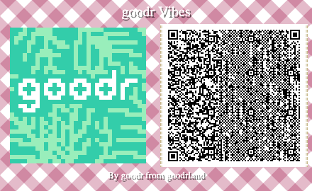 palm print animal crossing pattern QC code