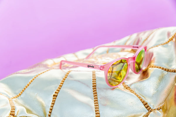 goodr pink round mirrored sunglasses