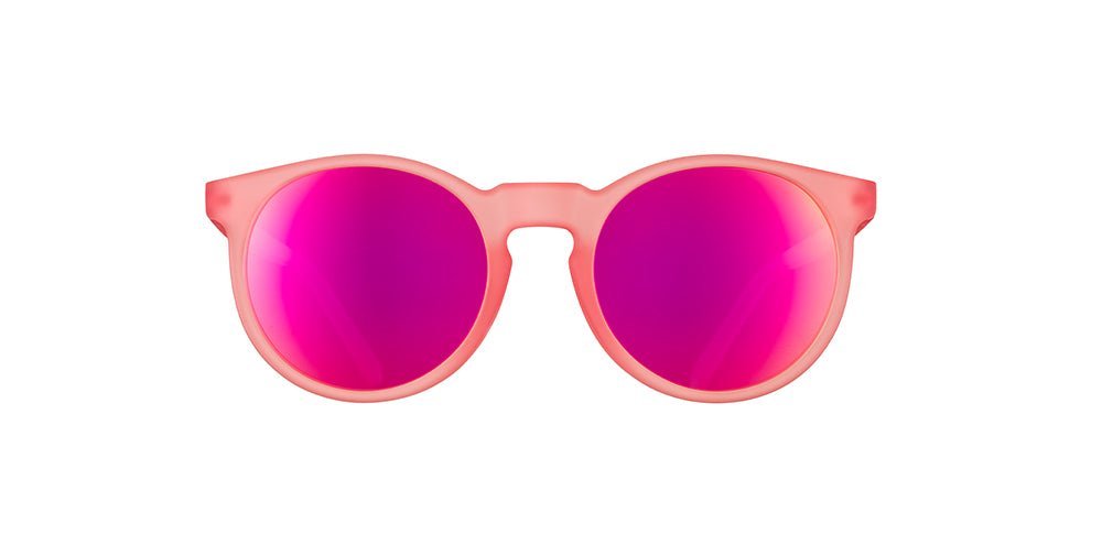 Influencers Pay Double | Pink Round Mirrored Sunglasses