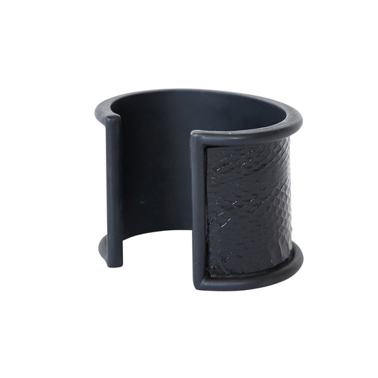 5 cm Inlay Cuff Black with Seasnake