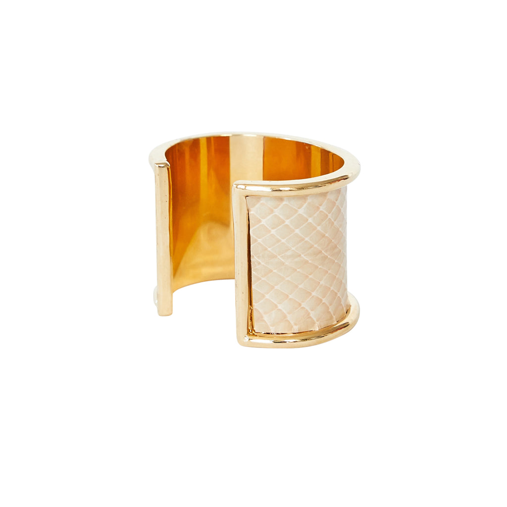 5 cm Inlay Cuff Gold with Blush Sea Snake