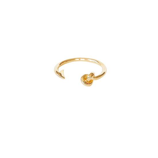 Hook and Knot Bangle in Gold