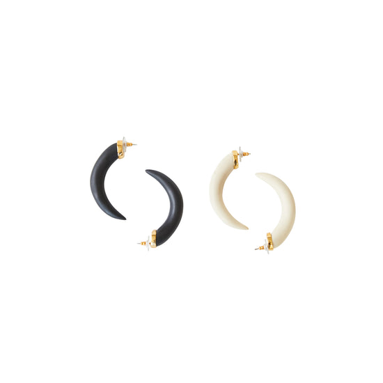 Horn Earring in Black