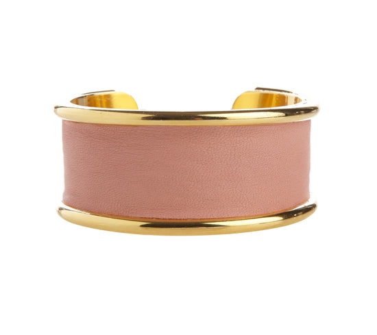 2 cm Inlay cuff with dust pink calfskin