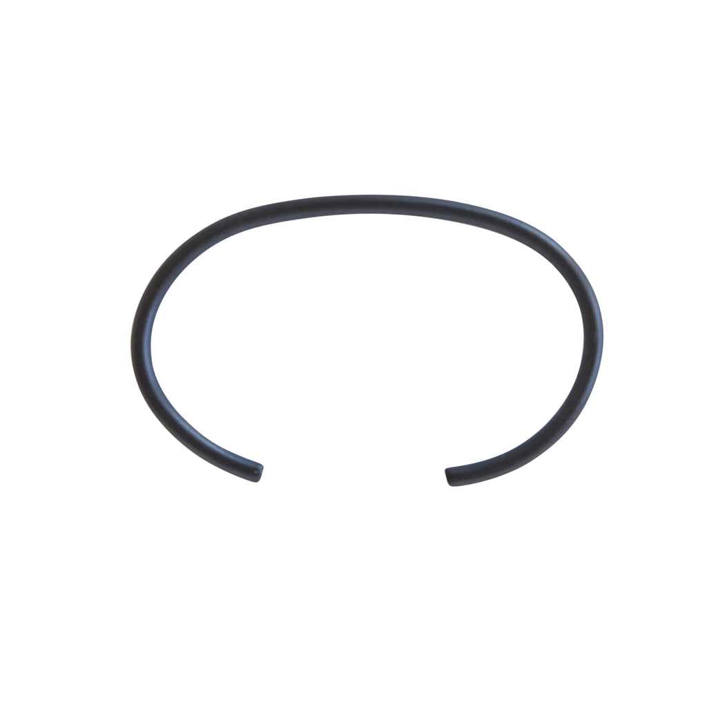 Matte Black Tube Necklace