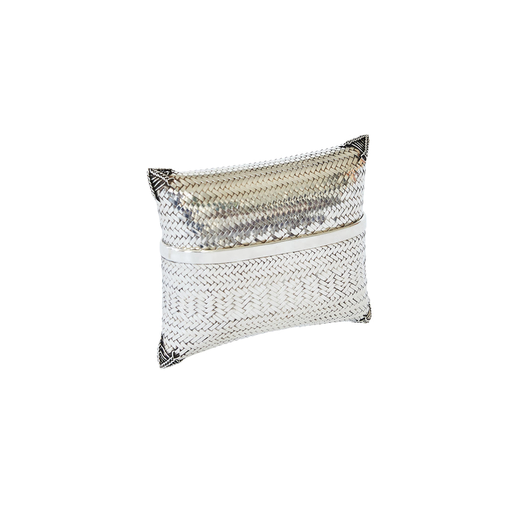 Woven Clutch Sterling Silver