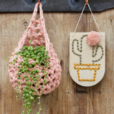 Hanging Crochet Pod - Recycled Cotton or T-shirt Yarn