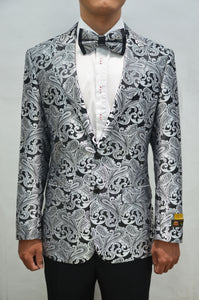 Paisley-100 Charcoal - Mens Wholesale Blazers