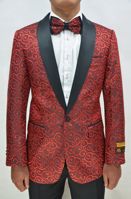 Paisley-300 Red/Black