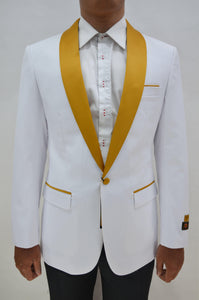 Dinner Jacket - White/Gold