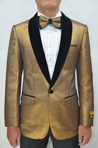 Paisley-300 Copper/Black Velvet - Mens Wholesale Blazers