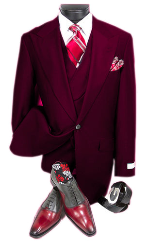 Mens Suits Detroit Michigan - Gadson-54 Burgundy - Wholesale Mens Suits - Wholesale Suits