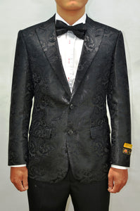 Paisley-100 Black - Mens Wholesale Blazers